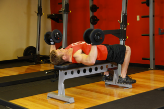 Full Body At-Home Workout Dumbbell Bench Press