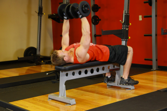 Full Body At-Home Workout Dumbbell Bench Press 2